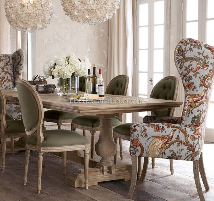 French Country Style Wooden Dining Room SetVintage And