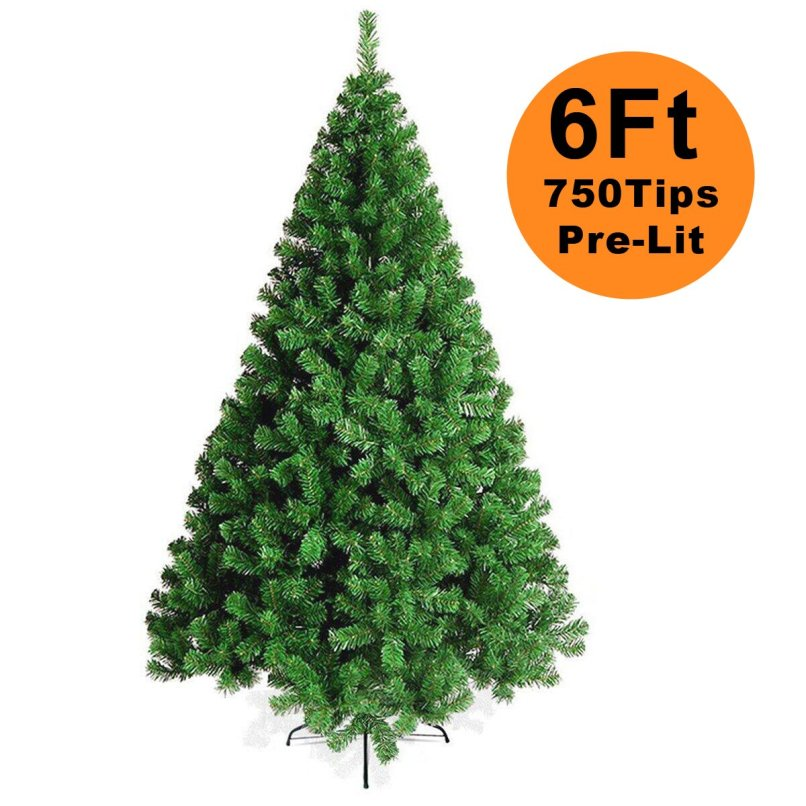 Naisir 6ft 1 8m Artificial Christmas Tree Pvc Green Xmas Decor With 750 Branches