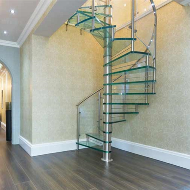 Custom Made Stainless Steel Glass Spiral Stairs For Small Spaces | Spiral Stairs For Small Spaces | Second Floor | Low Budget | Square | Low Cost Simple | Metal