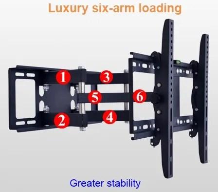 support mural tv de 40 a 70 pouces avec angle de rotation de 180 degres angle de 45 degres buy support d angle a 45 degres support d angle support