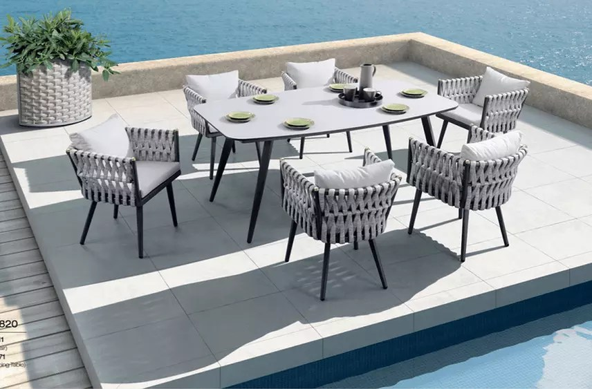 factory price hot selling royal hotel rope dining set patio furniture balcony dining table and chair garden outdoor furniture buy outdoor