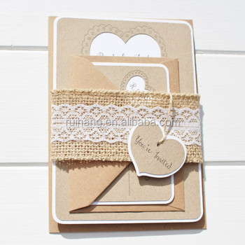Read More Wooden Heart Rustic Country Wedding Invites