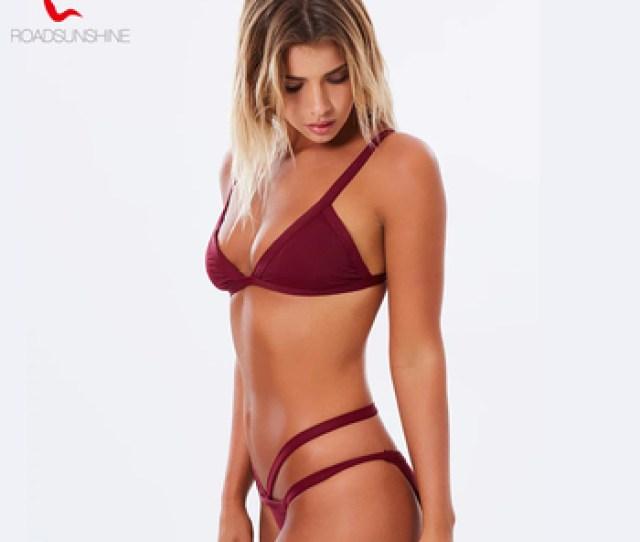 Las Mujeres Sexi Caliente Chicas Bikini Cintura Alta Tanga Bikini Tela De Lycra Trajes De Bano