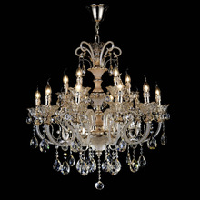 Whole Desh Modern Living Room Crystal Silver Glass Chandelier
