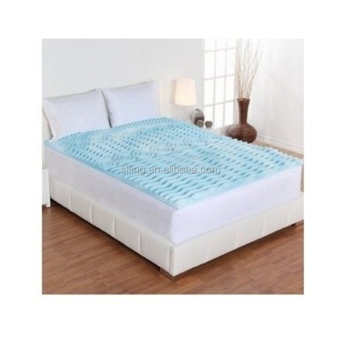 Queen Memory Foam Gel Size 2 Inch Mattress Topper Bed Pad Orthopedic Egg Crate
