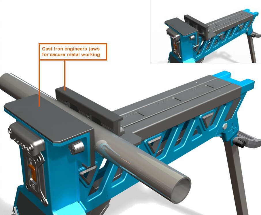 Lutool Portable Clamping Workbench Workstation Jaw Horse