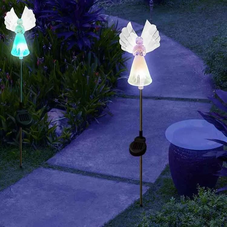 patriot lighting led color changing angel solar stake light garden solar lights outdoor waterproof buy angel solar light angel solar stake light led