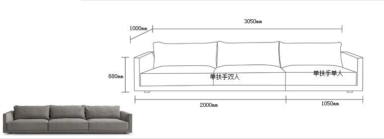 Modern Sofas Dimensions Wwwredglobalmxorg