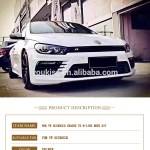 15 17 For Volkswagen Scirocco Modified R Line Body Kit View 2009 2014 For Volkswagen Scirocco For Volkswagen Product Details From Guangzhou Youkiss Trade Limited Company On Alibaba Com