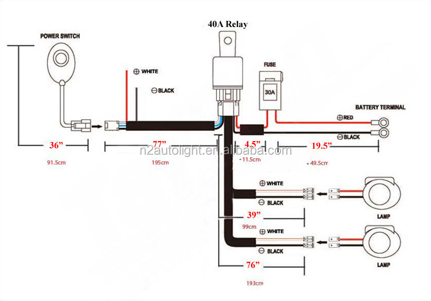 Driving Lights Wiring Diagram With Relay - Wiring Diagram