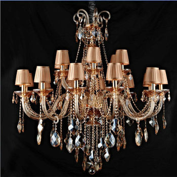 Italian Amber N Glass Chandelier Parts Lightings Lamp