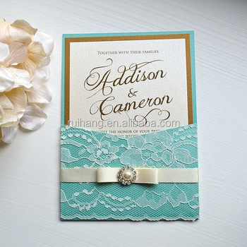 Sky Blue Wedding Invitation Cards