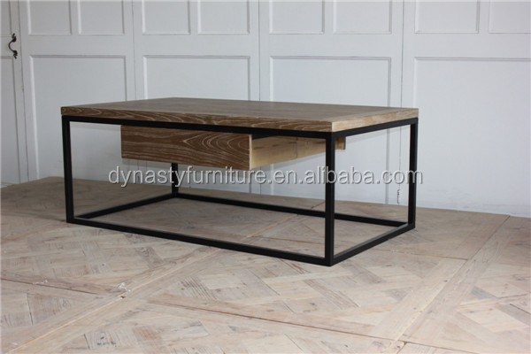 living room indoor metal frame coffee table design with wooden top and drawers buy coffee table metal coffee table living room coffee table product on alibaba com