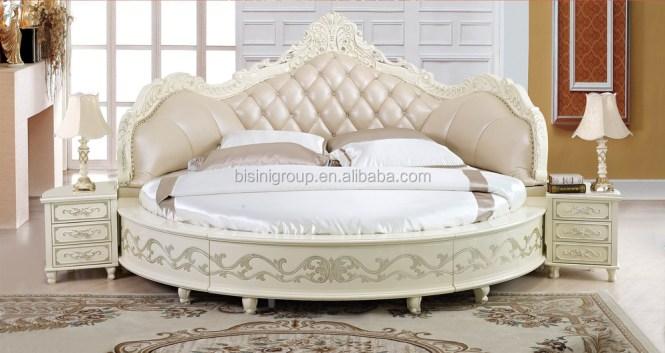 European Design Antique Bedroom Round Bed King Size