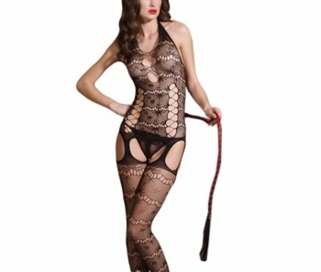 New Sexy Women Black Hollow Hot Erotic Backless Transparent Bodystocking Lace Fashion Lingerie