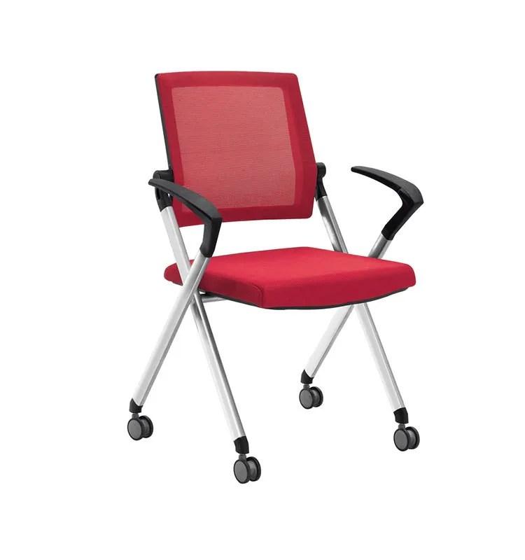 chaise de bureau pliable avec roulettes en nylon siege en tissu flexible ideale pour l entrainement buy chaise de bureau pliable dossier et siege en