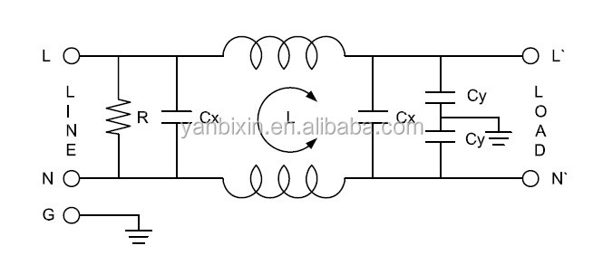 China Manufacturers Electronics Ac Power Line Noise Filter