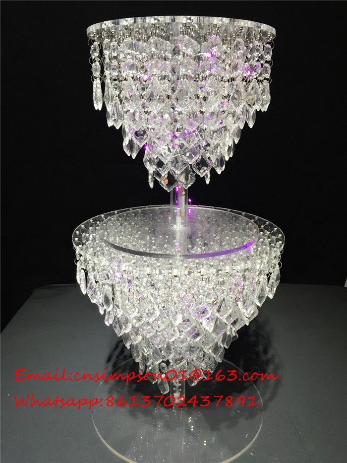 Acrylic Crystal Wedding Chandelier Cake Stand Buy