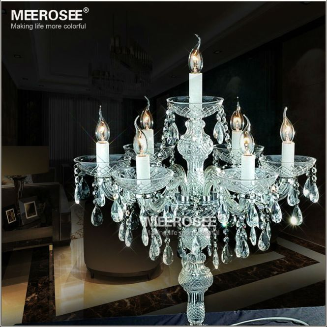 Table Candle Chandelier For Wedding Centerpiece Clear Decorative Light Mt2630