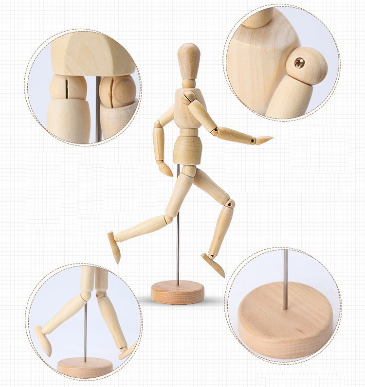 Fashion Wooden Doll Model Polished Ball Joint Art Home ...