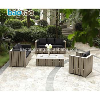 pp wooden outdoor sofa set plastic garden furniture meubles de jardin buy garden furniture outdoor furniture polywood garden furniture product on alibaba