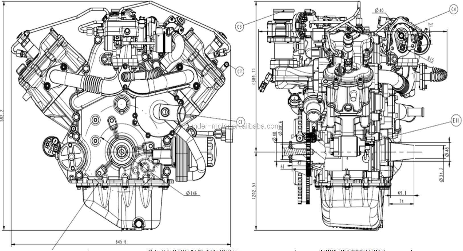 Hercules Utv Atv Off Road Vehiclesel Engine With Turbo