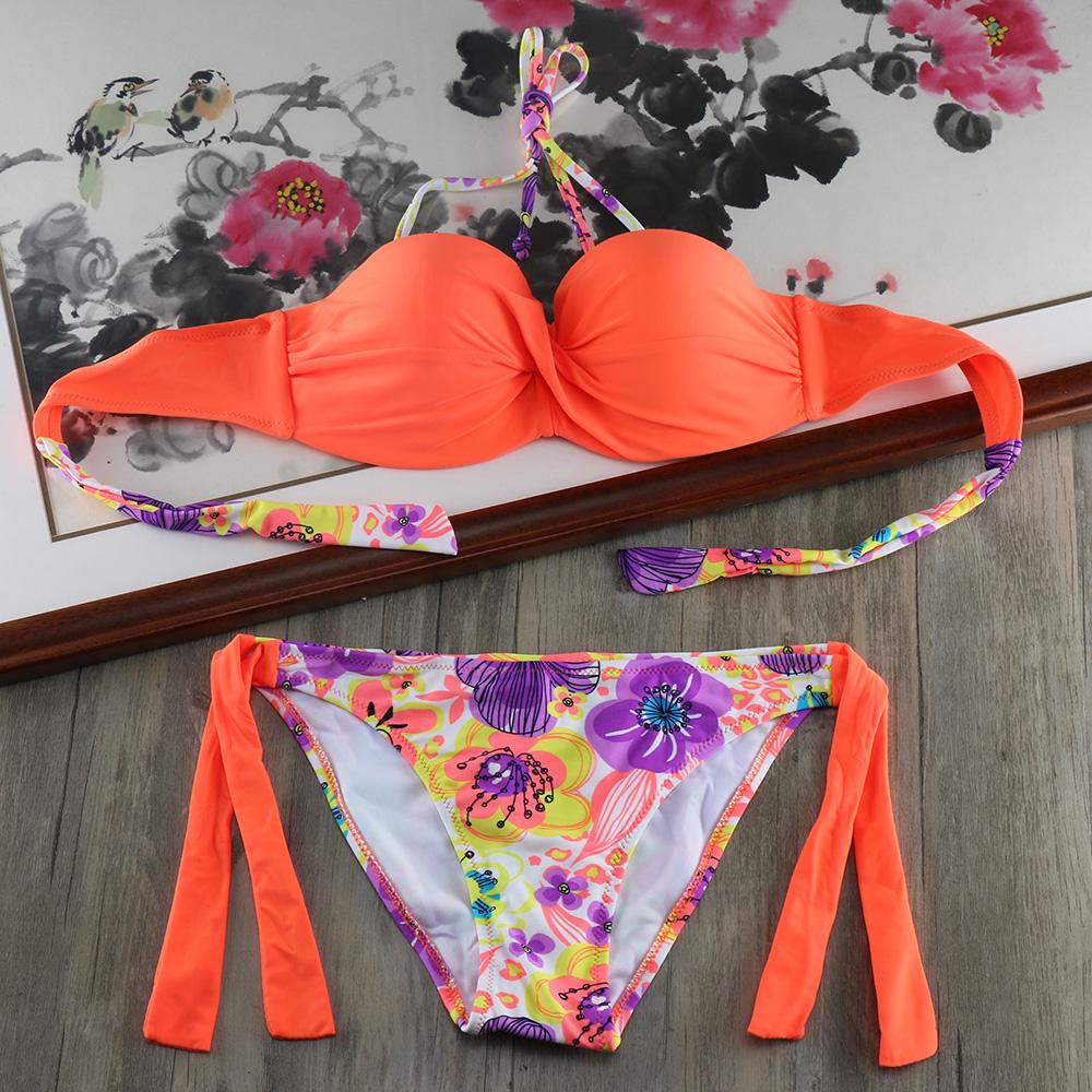 HTB1iyEPf0zJ8KJjSspkq6zF7VXaB Bikini Solid Strappy Bandage Bikinis Set White Push Up Bikini Swimwear Bandeau Brazilian Swimsuit Bathing Suit Maillot De Bain