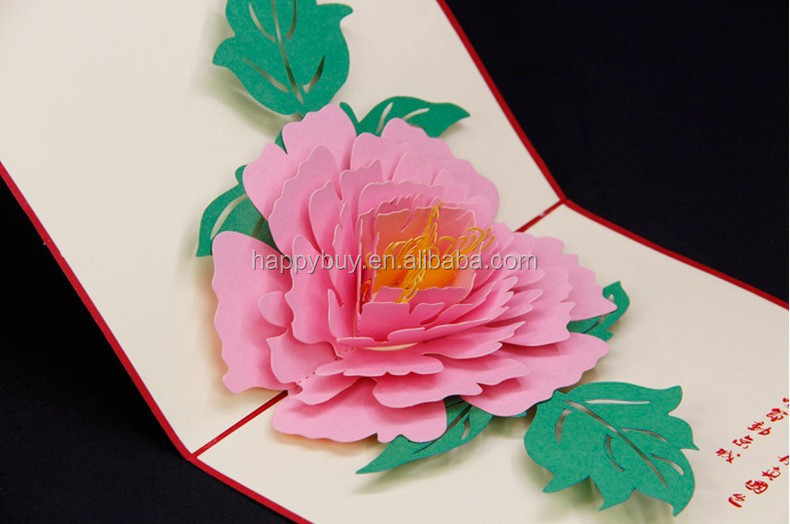 Beautiful Peony 3d Pop Up Greeting Card New Design Buy