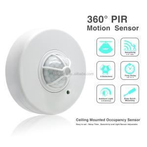 360 Degree Pir Infrared Motion Sensor Switch,Ceiling Mount 3 Detectors High Sensitive Occupancy