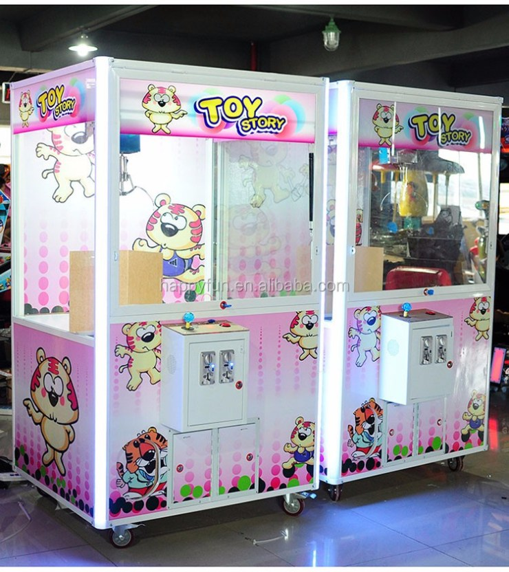 coin operated arcade claw game machine with bill acceptor