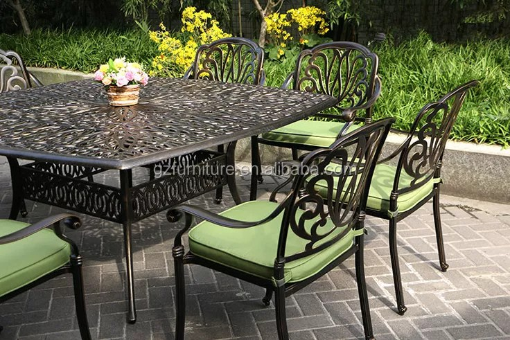 cast aluminum patio dining set 9pc outdoor furniture square nassau table 8 chair buy outdoor garden furniture classic dining table set dining set
