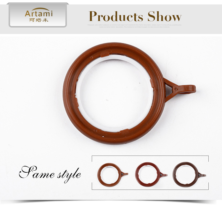 Open Top Shower Curtain Rings | Integralbook.com