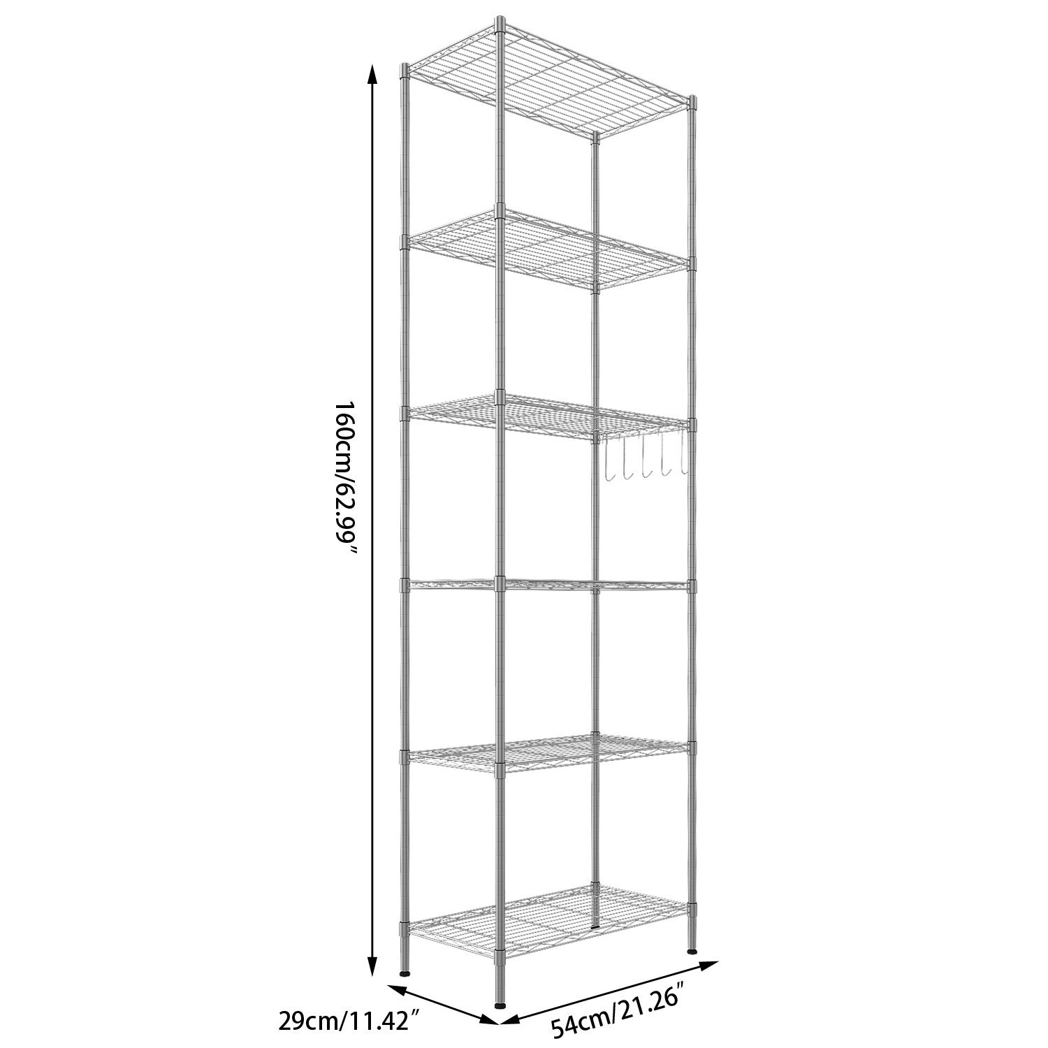 Buy Mulsh Wire Shelving 4 Tier Metal Wire Shelf Storage Rack