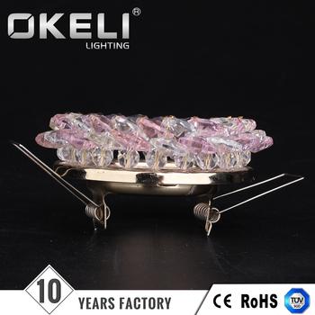 Lampshade frames spotlight frameswall whole cheap round crystal spotlight wire lampshade frames greentooth Gallery