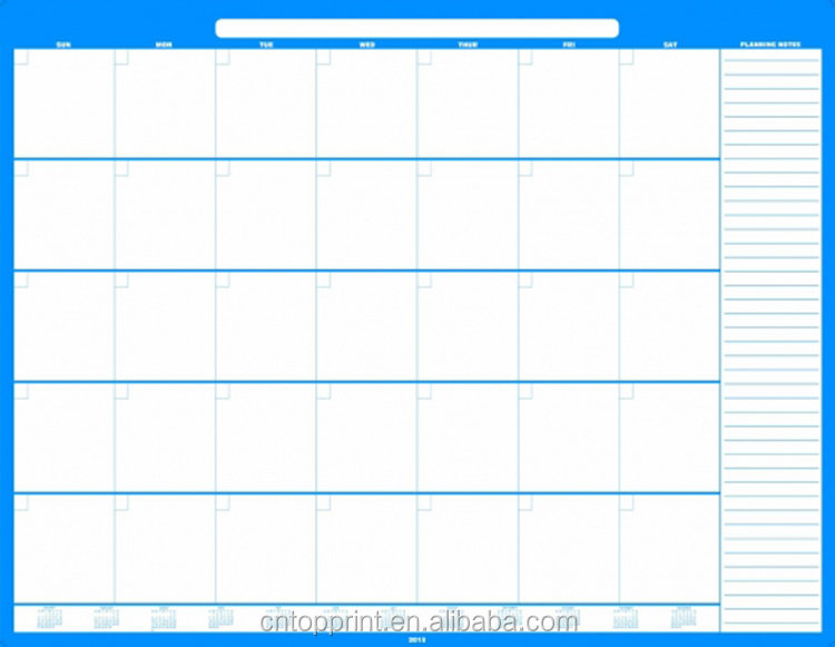 Effaable Sec Mensuel Calendrier Mural Planificateur