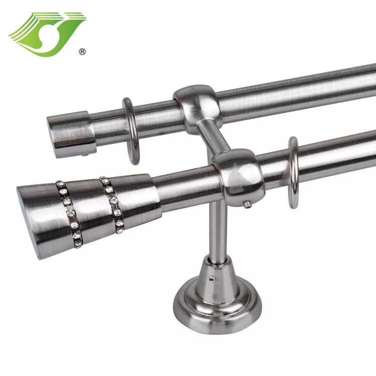 factory direct reasonable price decorative double curtains rods accessories easy install heavy duty decorative curtain rod sets buy factory direct