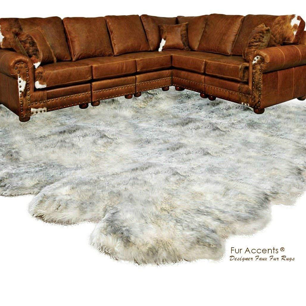 Buy Fur Accents Shaggy Faux Fur Area Rug Random Shape Bear