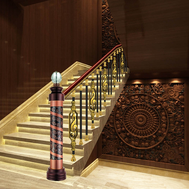 Interior Decorative Railing Design Brass Stair Handrails Buy | Brass Handrails For Stairs | Aluminum | Classic | Medallion | Cantilevered Spiral Stair | Wrought Iron Railing
