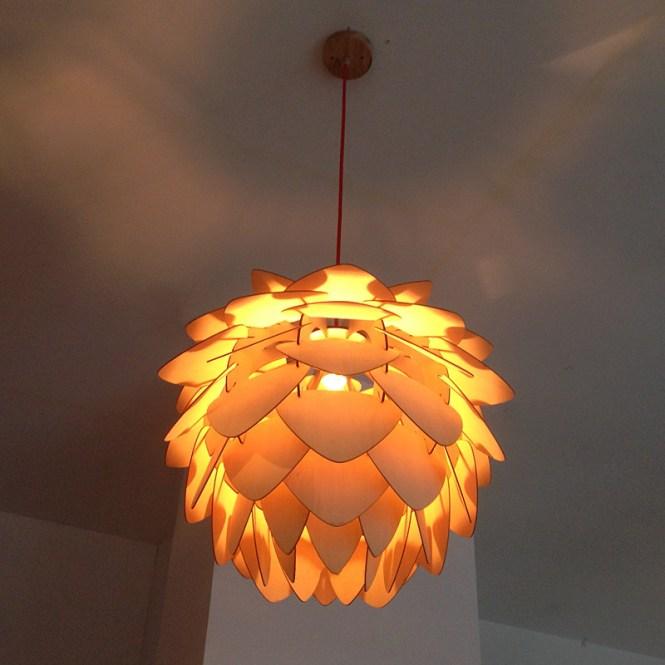 Designer Lamp Crimean Pinecone Modern Wood Chandelier Product On