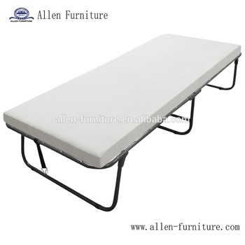 Deluxe Metal Folding Guest Bed Twin Size With Foam Mattress Portable Cot