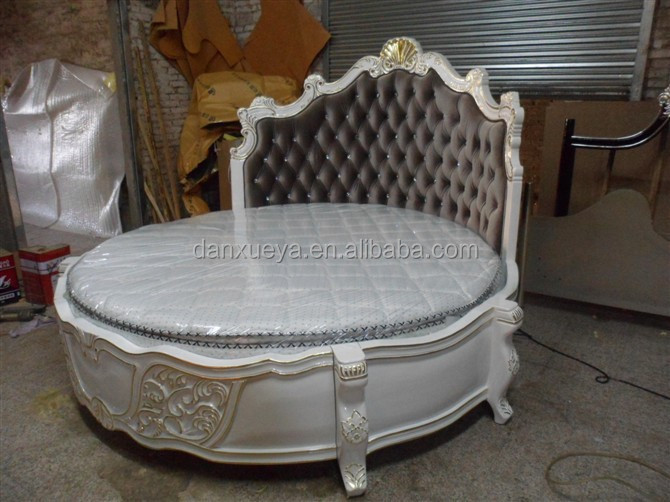Alibaba Wooden Carved Round BedAntique Bedroom King Size