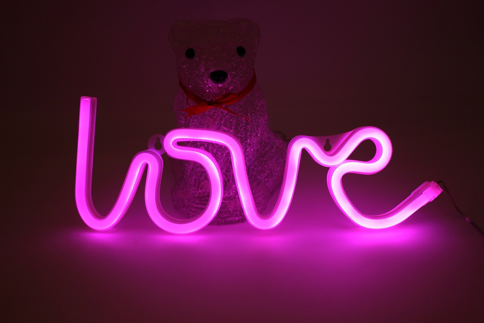 buy pink love neon signs led light 6 12