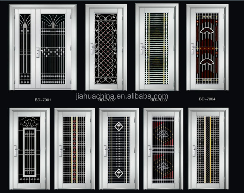 Double Design Stainless Steel Doors Exterior House Front