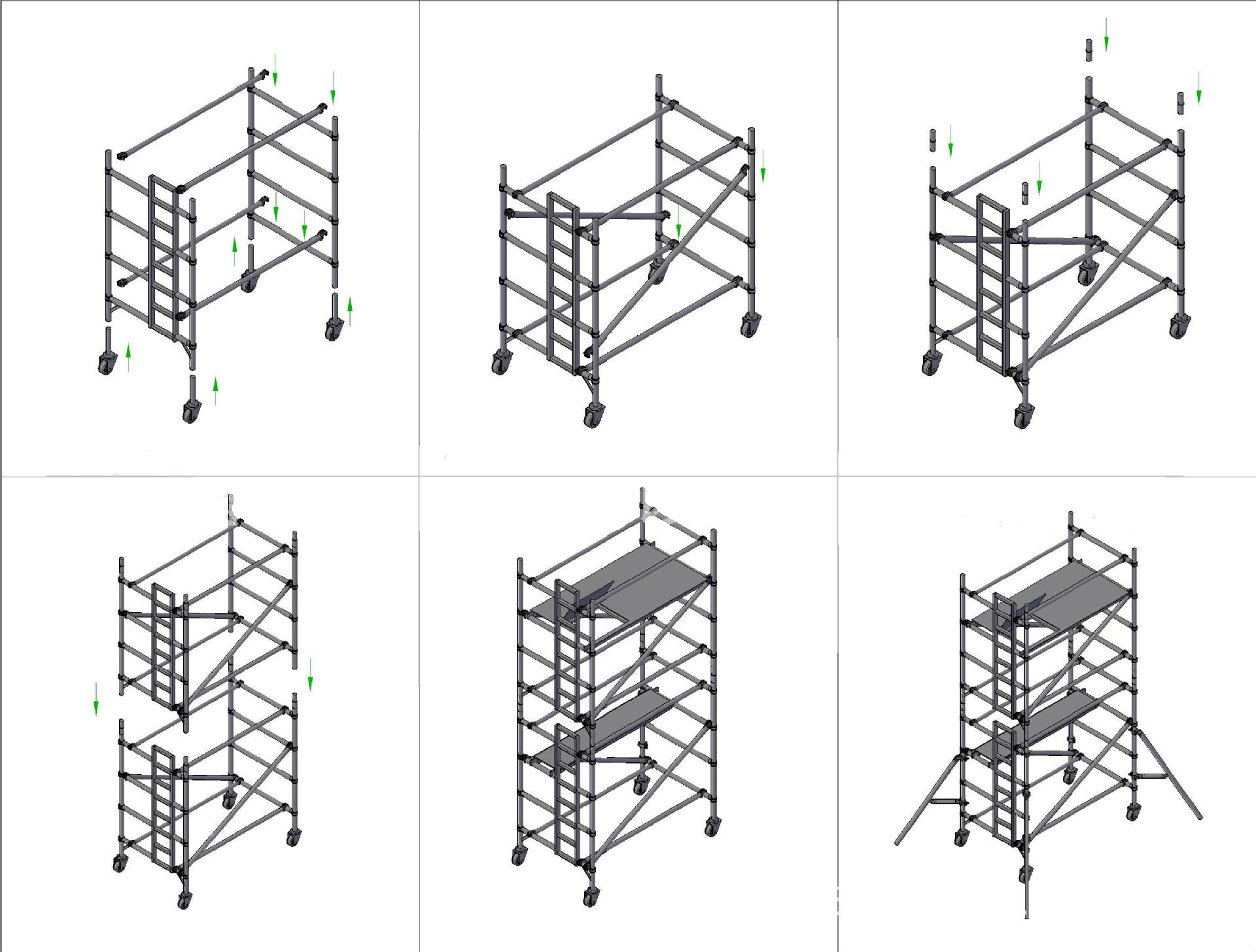 High Quality Aluminum Scaffolding For Sale Easy Mobile