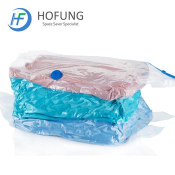 Plastic Vacuum Mattress Storage Bag With Zipper
