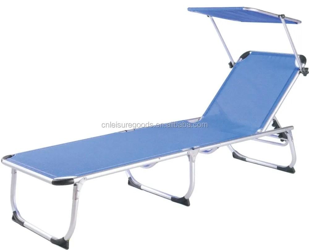 piscine exterieure legere et pliable en aluminium lit de plage chaise de soleil avec auvent buy lit pliant exterieur de plage chaise longue de plage
