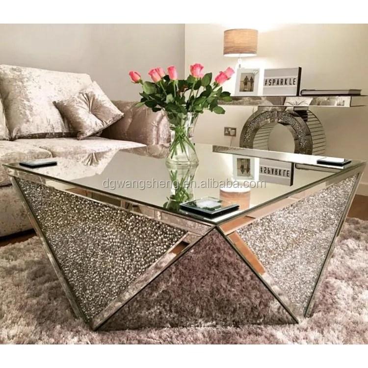 4 sides crushed diamond handmade mirrored coffee table buy glass coffee tables homemade coffee table modern coffee table product on alibaba com