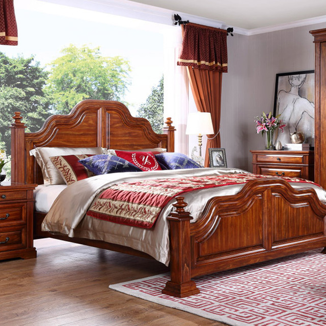 China Apartment Size Bedroom Furniture Wholesale                    Alibaba Low price of solid wooden bedroom furniture set Bottom Price