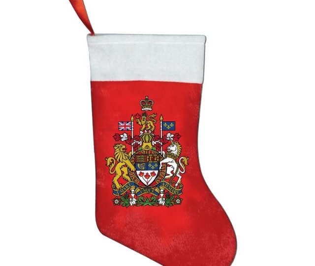 Qpbd Coat Of Arms Of Canada Christmas Stockings Christmas Tree Christmas Gifts Santa Stockings Christmas Holiday