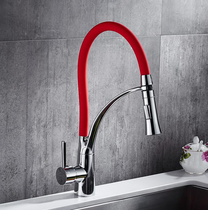 get red kitchen faucet for a flawless